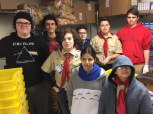 Food pantry scouts