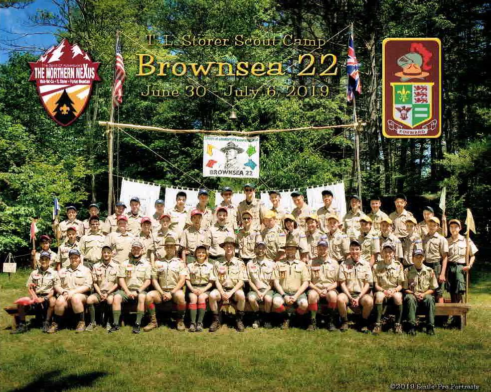 Brownsea troop photo 2019